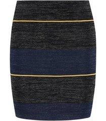 zwart donkerblauwe dames rok nikkie