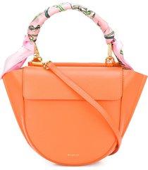 wandler hortensia mini scarf tote - orange