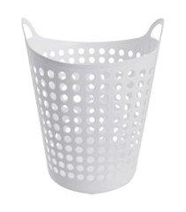cesto de roupas flexível branco branco 44 litros - arthi