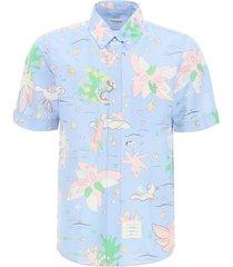 thom browne hawaiian printed shirt
