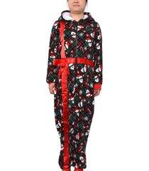 derek heart trendy plus size one-piece holiday pajamas