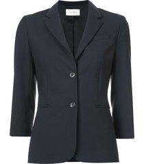 the row classic 3/4 sleeve single-breasted blazer - blue