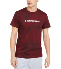 g-star raw men's rodis tonal tropical logo t-shirt