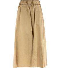 aspesi elasticated waist skirt