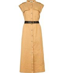 midi-safari jurk trina  beige