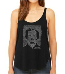 la pop art women's premium word art flowy tank top- edgar allen poe - the raven