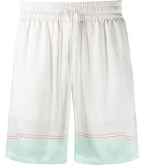 casablanca satin tennis shorts - white