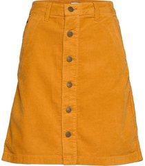 tjw a line corduroy skirt knälång kjol gul tommy jeans