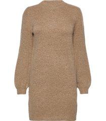 objeve nonsia l/s knit dress noos knälång klänning brun object