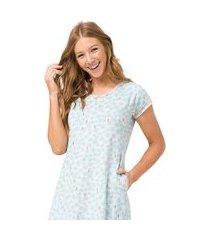 camisão coqueiro feminino - toque sleepwear