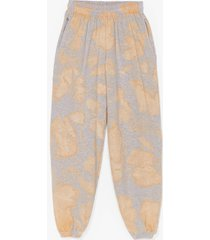 womens head in the clouds high-waisted tie dye joggers - yellow