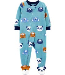 carter's baby boy 1-piece animal fleece footie pjs