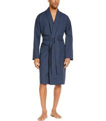 club room men's printed cotton robe, created for macy's