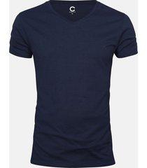 basic t-shirt - mörkblå