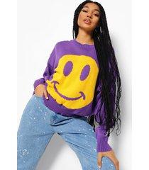 trui met gezicht, purple