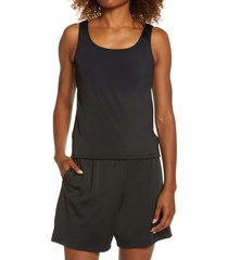 l.l.bean beansport tankini top, size 6 in black at nordstrom