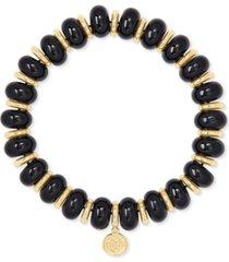 kendra scott gold-tone rebecca stone stretch bracelet