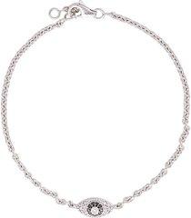 alinka alinka evil eye 18kt gold diamond bracelet - metallic