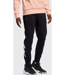 pantalón de buzo adidas performance harden fle pant negro - calce regular