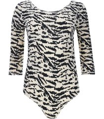 body estampado animal beige color beige, talla 10