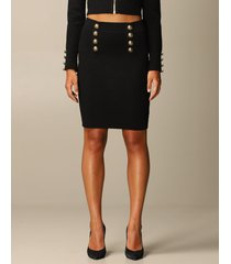 balmain skirt balmain mini skirt in diamond-patterned stretch viscose