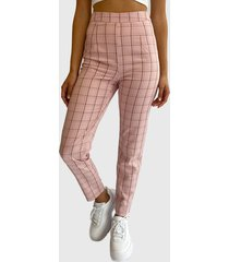 pantalón missguided rosa - calce ajustado