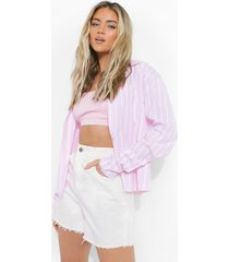 baggy roze gestreepte blouse, pink