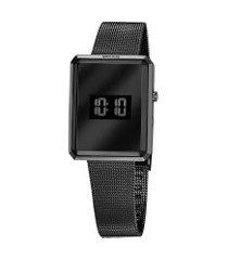 relógio digital seculus feminino - 77061lpsvps2 preto