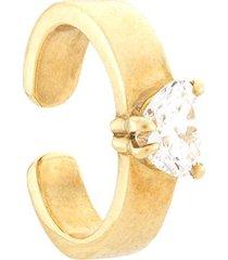 anita ko 18kt yellow gold heart diamond ear cuff