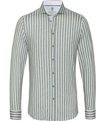 desoto heren overhemd strepen cutaway jersey slim