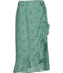 skirt knälång kjol grön ilse jacobsen