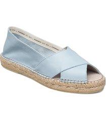 ginger nappa sandaletter expadrilles låga blå pavement