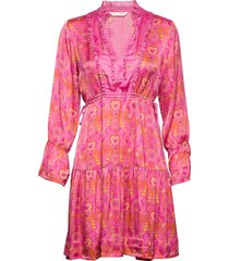 brilliant & brave short dress kort klänning rosa odd molly