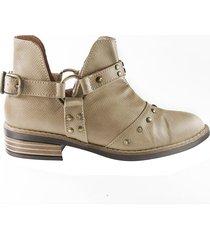 zapato tipo botín taches - beige