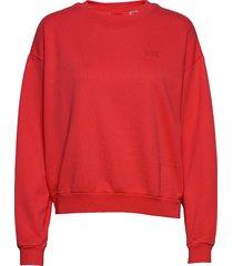 diana crew ultra soft tomato sweat-shirt tröja röd levi´s women