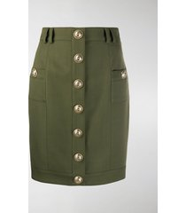 balmain short single-breasted skirt