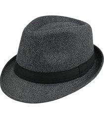 uomo donna woolen british gentleman solid brimmed jazz cap