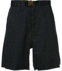 facetasm striped casual shorts - blue