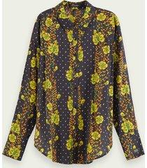scotch & soda blouse met lange mouwen van een katoenmix