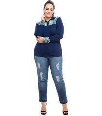 camisa polo plus size snake feminina