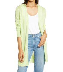 women's halogen side slit cardigan, size xx-large - green