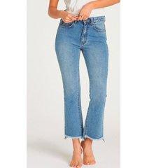 jeans mujer cheeky straight azul cielo billabong