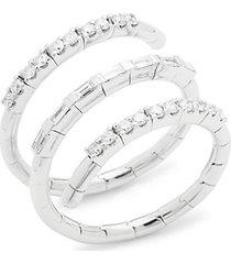 14k white gold & diamond wrap ring