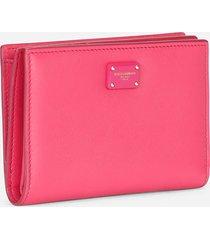 dolce & gabbana small fuchsia leather wallet