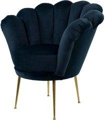 fotel granatowy tapicerowany lux-3