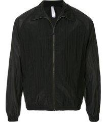 cottweiler spread collar bomber jacket - black
