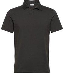 m. lycra polo t-shirt polos short-sleeved grijs filippa k