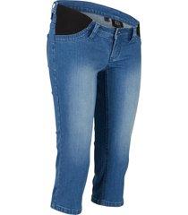 jeans capri prémaman per i primi mesi e post parto (blu) - bpc bonprix collection