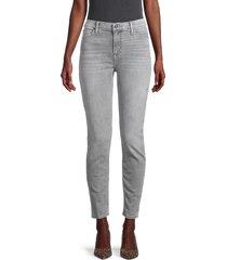 hudson women's mid-rise ankle-length jeans - dublin grey - size 30 (8-10)