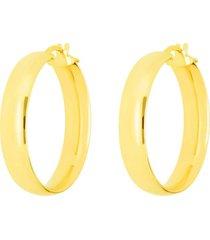 orecchini a cerchio mezzo tondo in oro giallo per donna